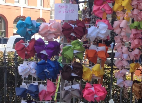 A few of the eight million and twelve bows at the Canton Flea Market
